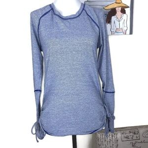Lucy Tech Althetic Long Sleeves Blue Top Size S